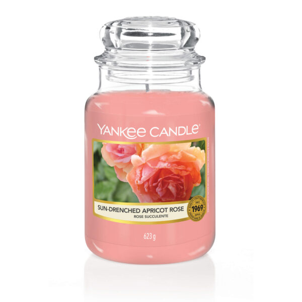 Świeca słoik Yankee Candle - Sun-Drenched Apricot Rose